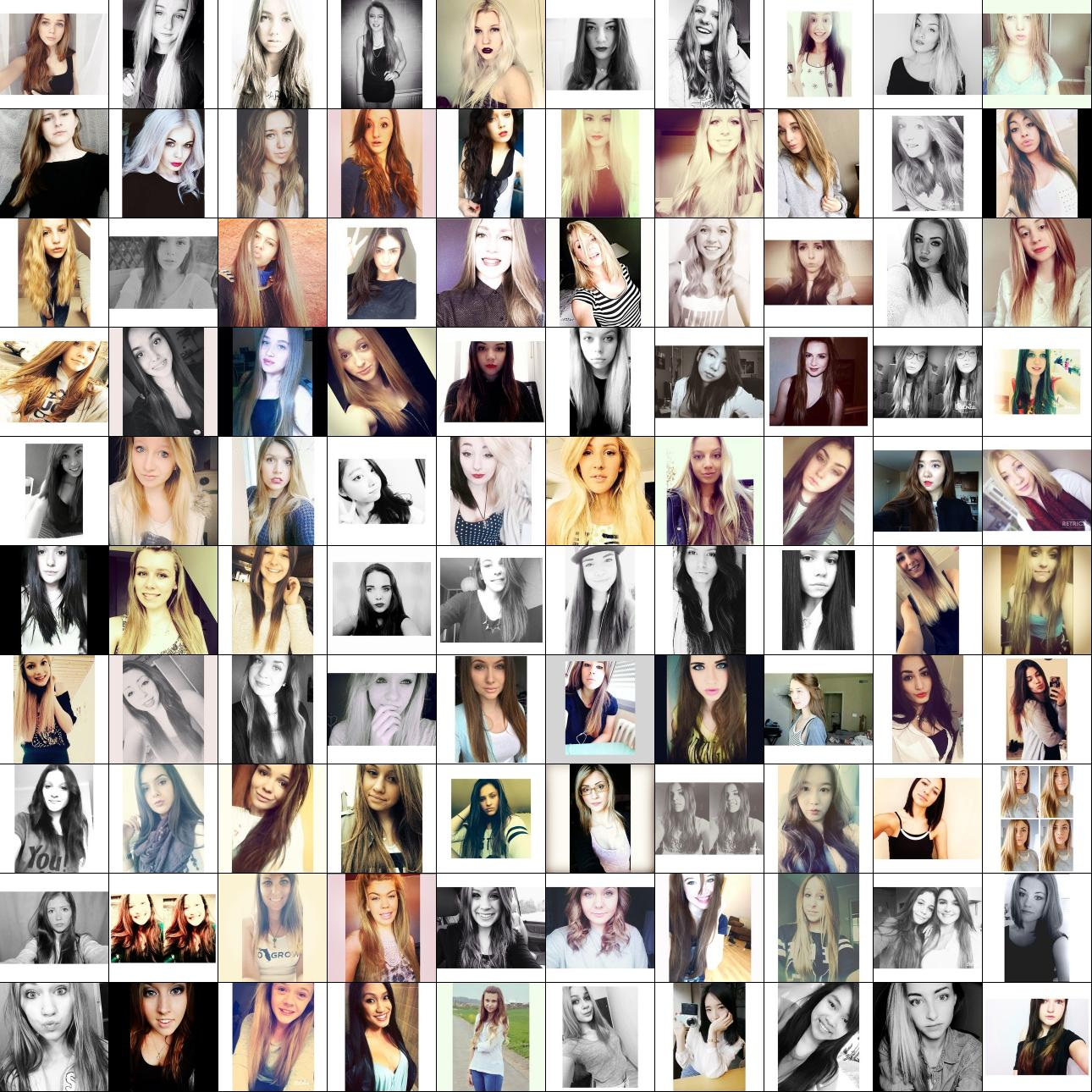 What a Deep Neural Network thinks about your #selfie